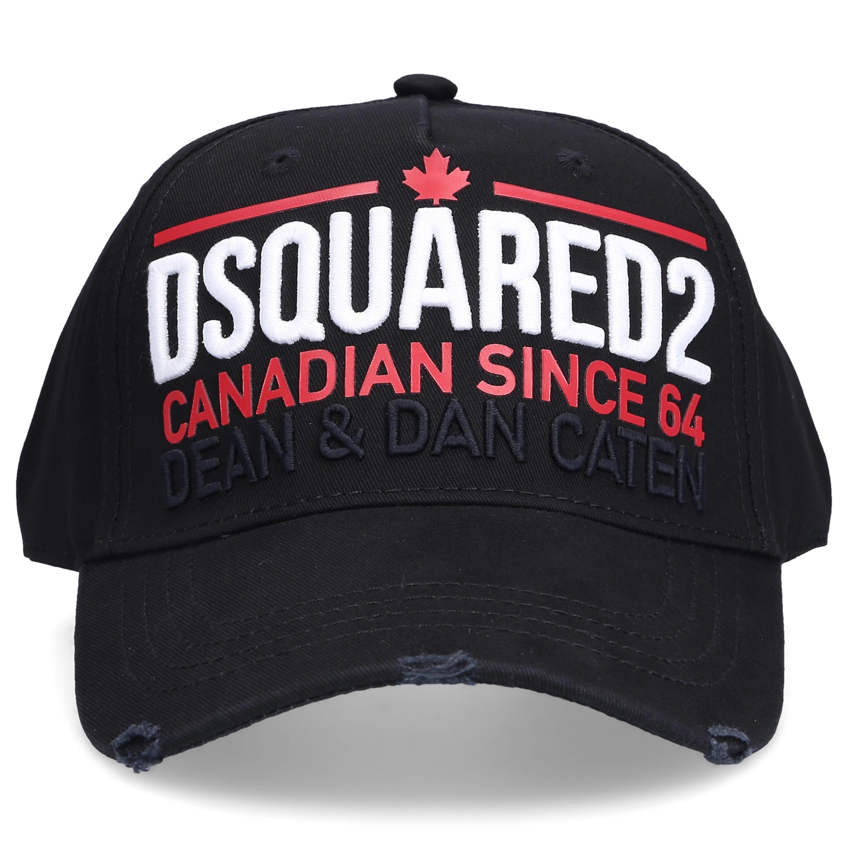 Dsquared2 Snapback CARGO Gabardine Logo Stickerei schwarz