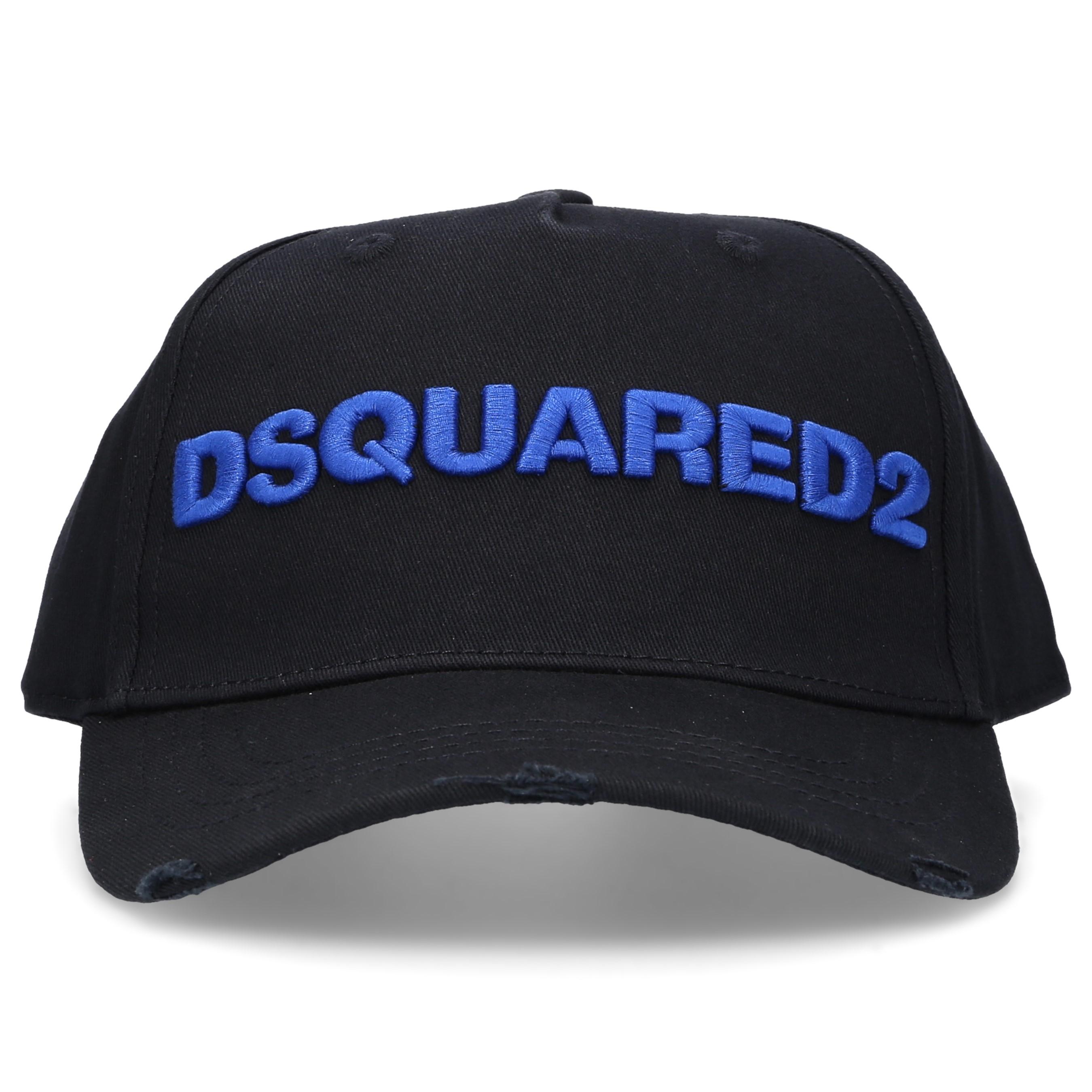 Dsquared2 Snapback Cap OTHER CARGO Baumwolle Logo Stickerei schwarz