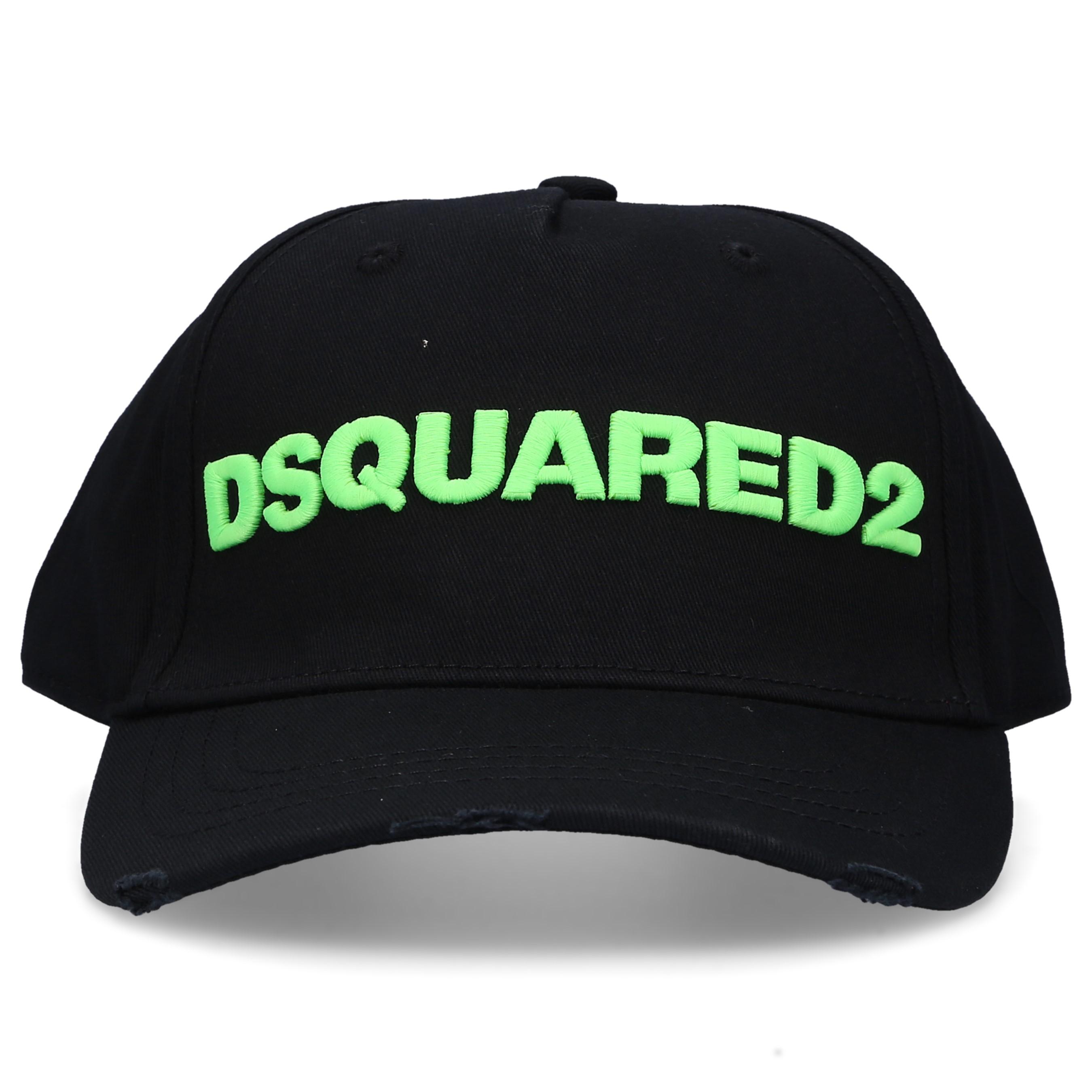 Dsquared2 Snapback Cap OTHER CARGO Baumwolle Stickerei logo schwarz