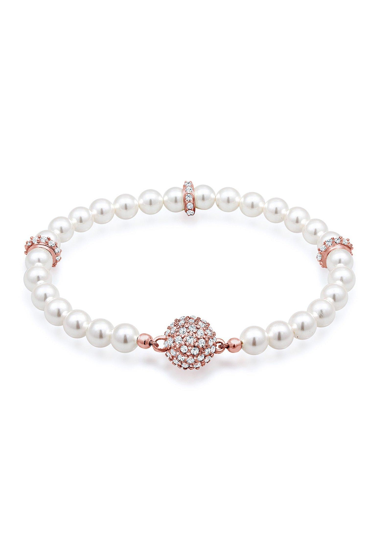 Elli Perlenarmband Kugel Magnet Perle Swarovski Kristalle 925 Silber