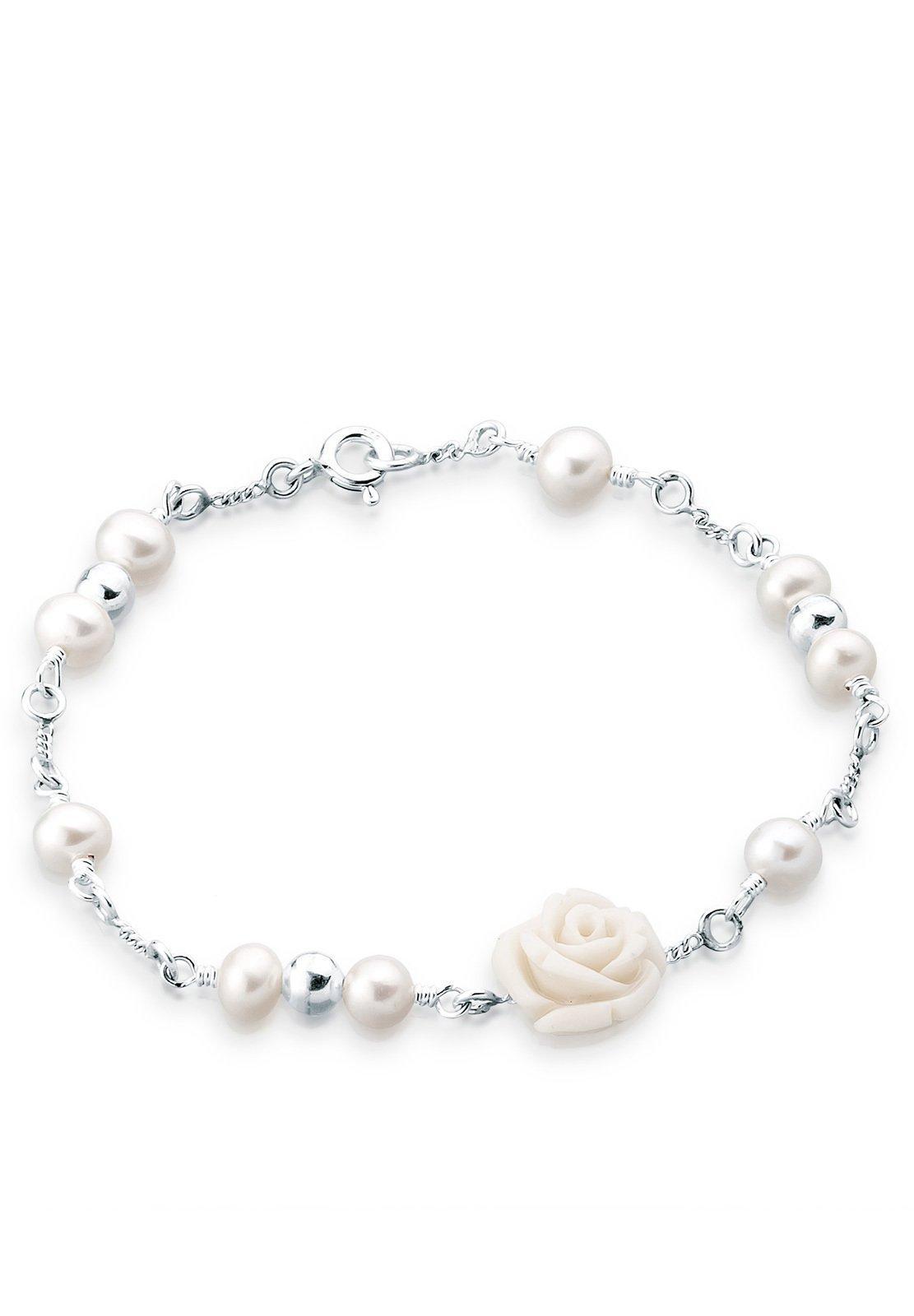 Elli Perlenarmband Rose Süßwasserzuchtperle 925 Sterling Silber