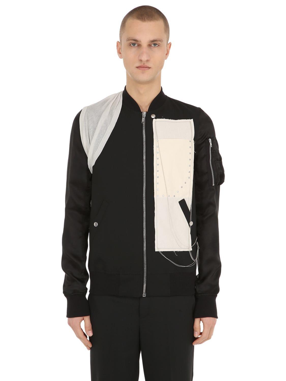 best loved ef1a5 41dc7 Embroidered Wool & Viscose Bomber Jacket