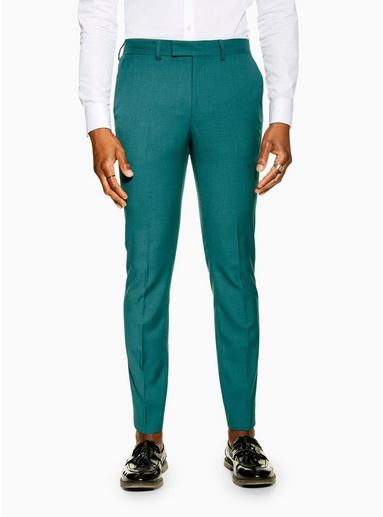 Eng geschnittene Hose, grün, GRÜN