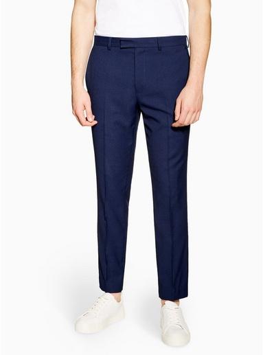 Enge Hose mit zweifarbigem Design, blau, BLAU