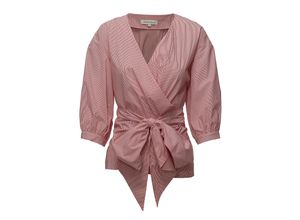 Fabina Wrap Top Bluse Langärmlig Pink SECOND FEMALE