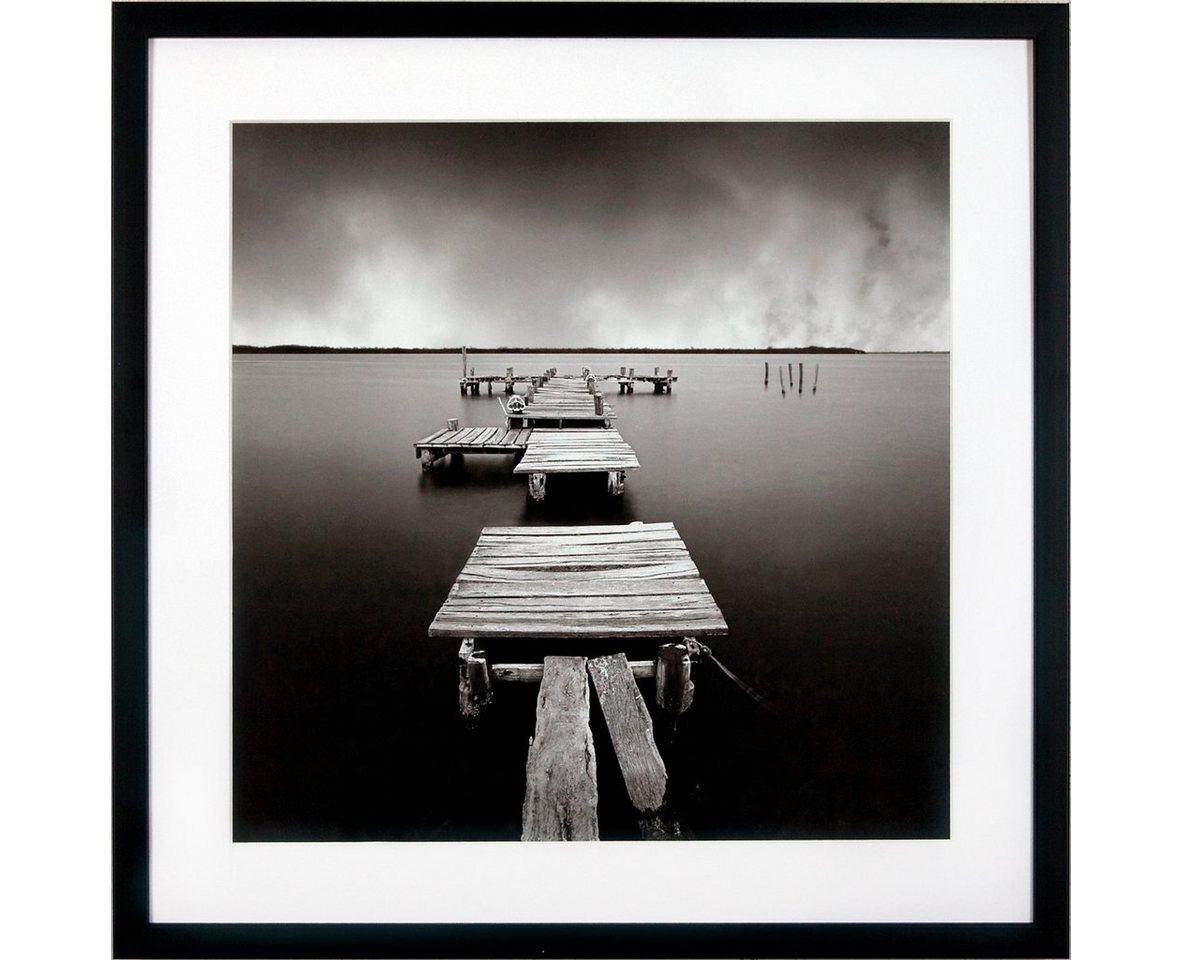 "G&C Kunstdruck , schwarz, 50x50cm, ""Levy: Beach Motiv 3"""