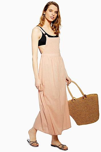 Gesmoktes Kleid - Rosé