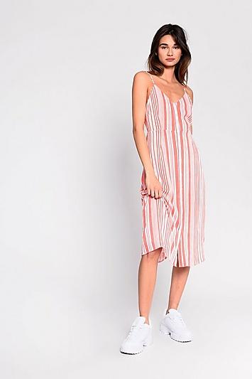 **Gestreiftes Kleid mit Knopfleiste von Glamorous - Multi
