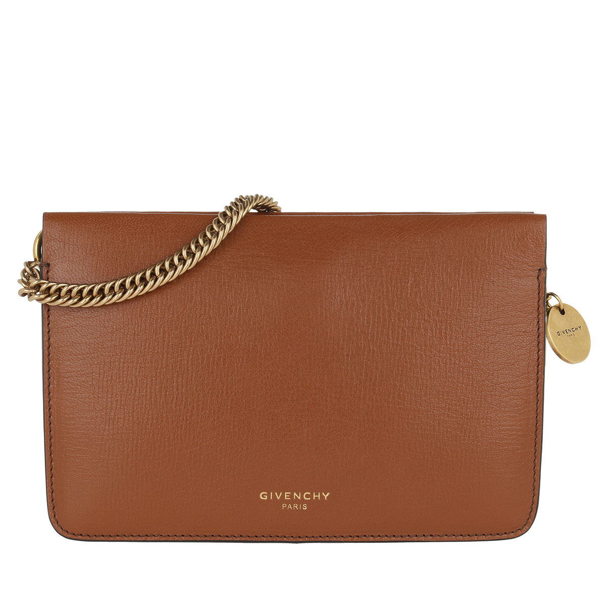 Givenchy Umhängetasche - Cross3 Bag Grained Leather Chestnut - in cognac - für Damen