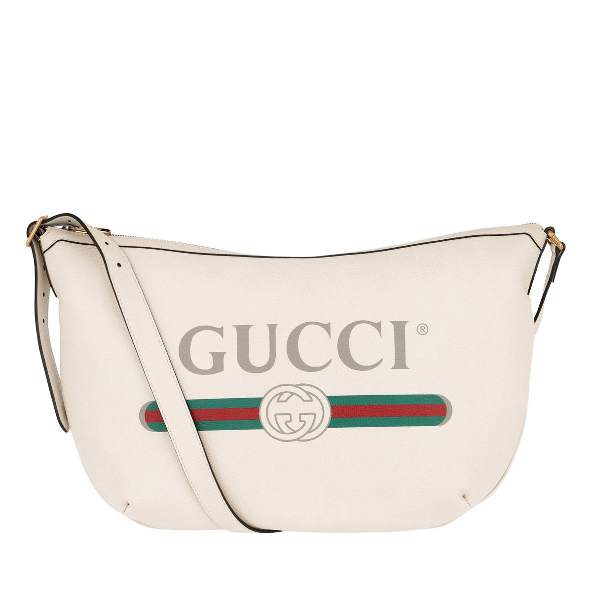 Gucci Hobo Bag - Half-Moon Hobo Bag Leather White - in weiß - für Damen