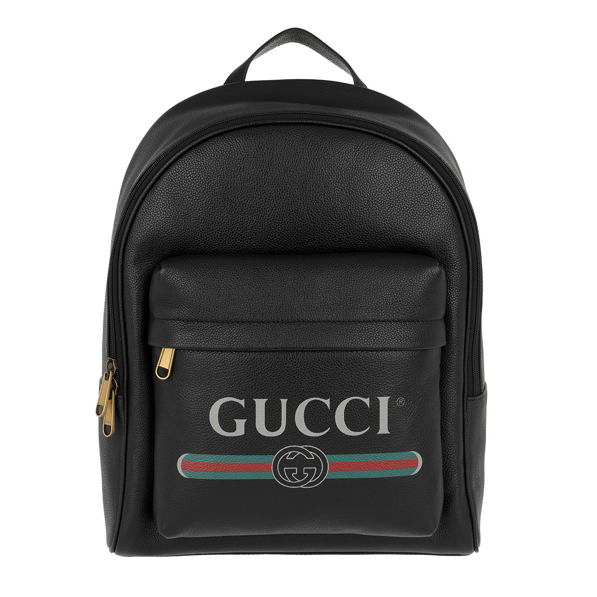 Gucci Rucksack - Gucci Print Backpack Leather Black - in schwarz - für Damen