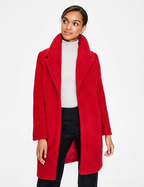 Hereford Mantel Red Damen Boden, Red