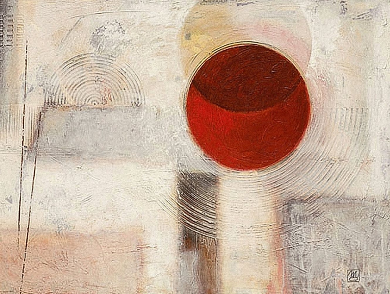 "Home affaire Kunstdruck ""Abstract I"", beige, 80x60cm"