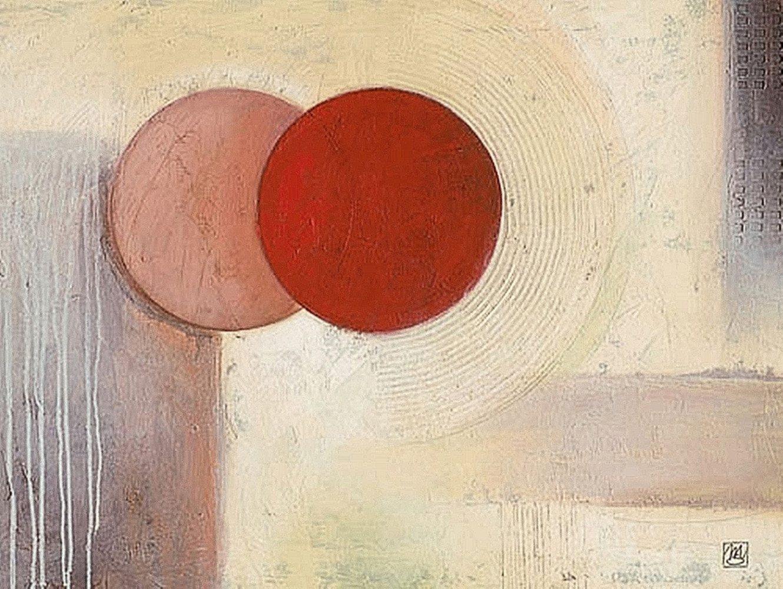 """Home affaire Kunstdruck """"Abstract II"""", beige, 80x60cm"""