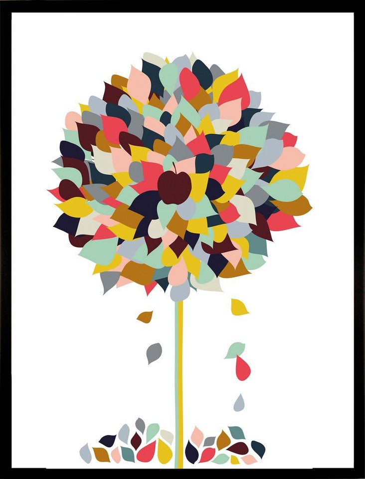 "Home affaire Kunstdruck ""Appletree"", mehrfarbig, 33x43cm"