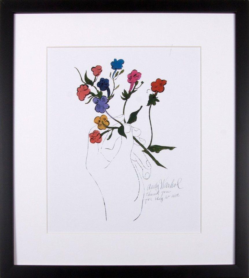 """Home affaire Kunstdruck """"Bunter Blütenstiel"""", weiß, 33x43cm"""