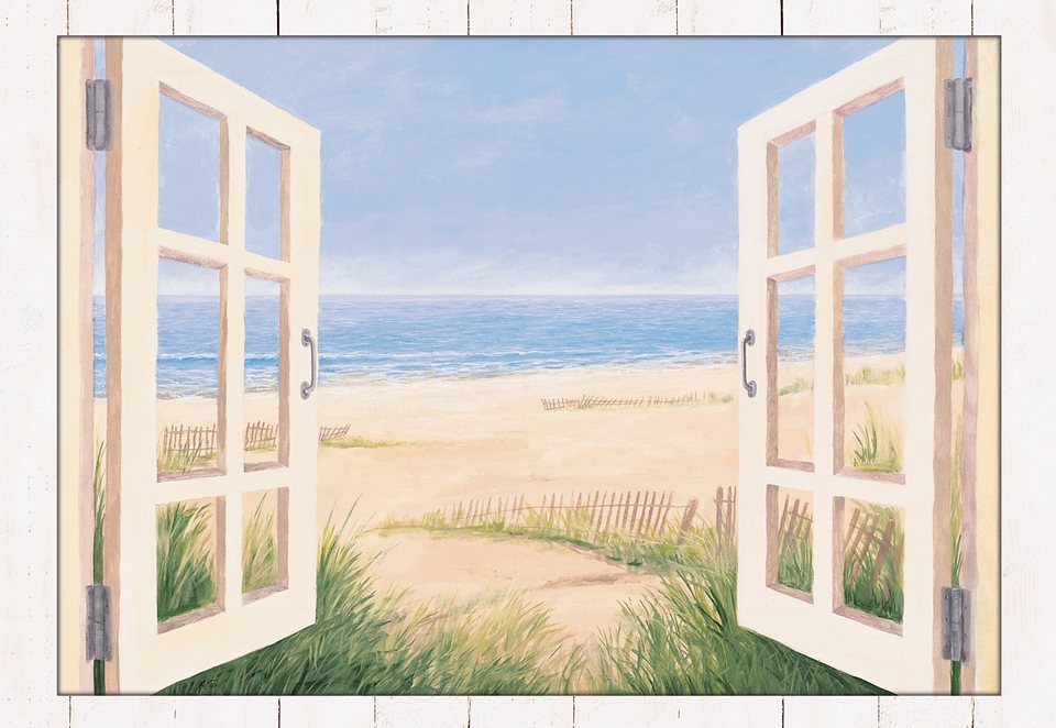 "Home affaire Kunstdruck , beige, 112,4x82,4cm, ""Spring Day Morning"""