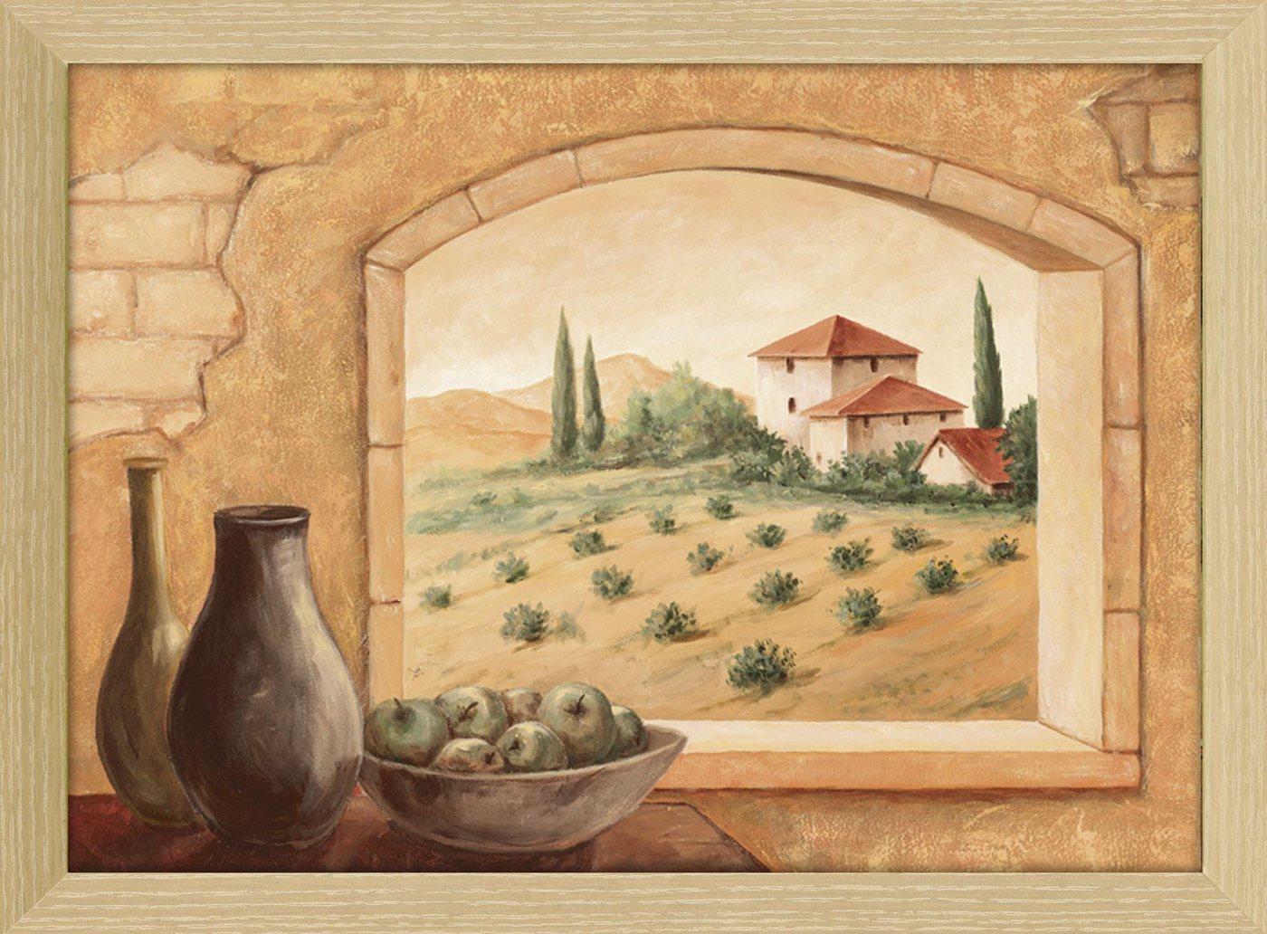 "Home affaire Kunstdruck , beige, 54,8x74,8cm, ""Andres: Toscana"""