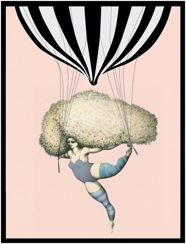 "Home affaire Kunstdruck , mehrfarbig, 33x43cm, ""Dancing with Balloon"""