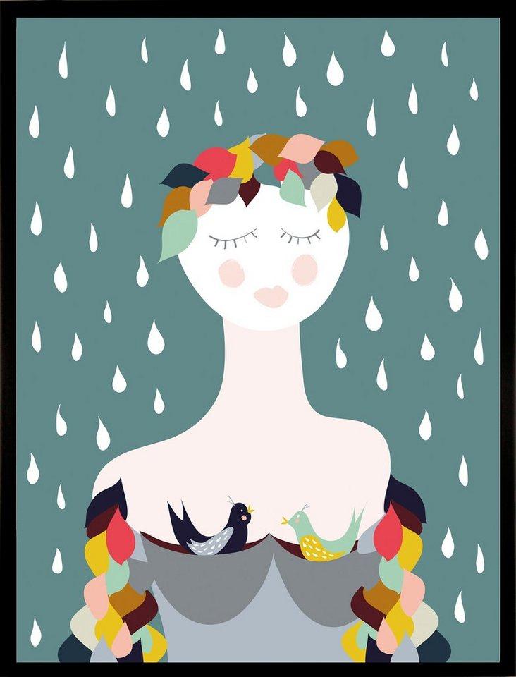 "Home affaire Kunstdruck , mehrfarbig, 33x43cm, ""Rainy Lady"""