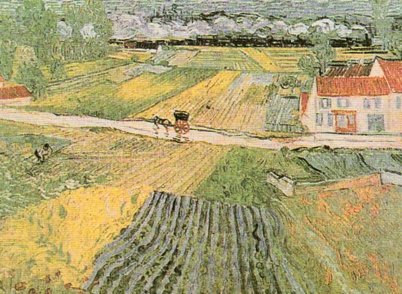 "Home affaire Kunstdruck , mehrfarbig, 80x60cm, ""V. van Gogh, Landschaft bei Auvers"""