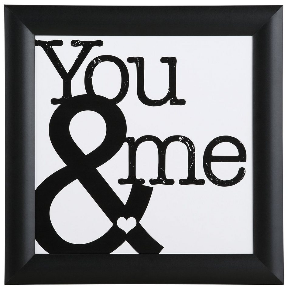 "Home affaire Kunstdruck , schwarz, 37,2x37,2cm, ""You & me"""