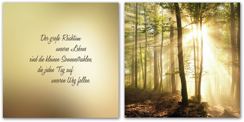 """Home affaire Leinwandbild , beige, 120x60cm, """"Der große Reichtum unseres Lebens sind..."""""""