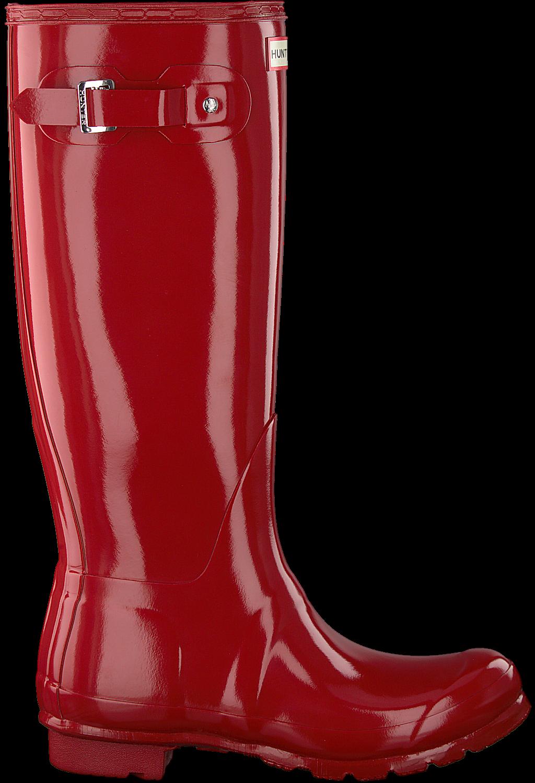 the latest 526ec cef1f Hunter Gummistiefel Original Tall Gloss Rot Damen
