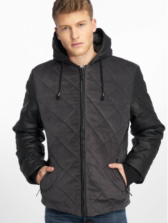Just Rhyse Männer Winterjacke Quilted in grau