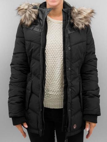Khujo Frauen Winterjacke Winsen in schwarz