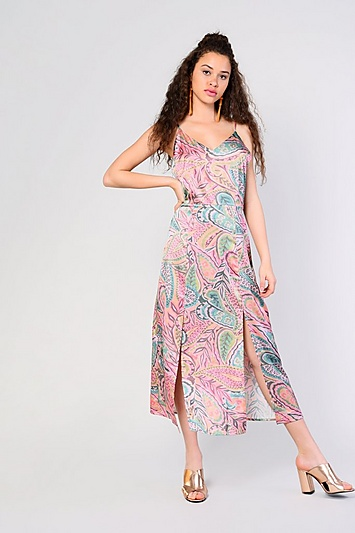 **Kleid mit Paisleymuster im Aquarell-Design von Glamorous - Multi