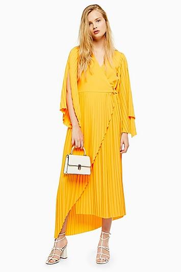 Knöchellanges Kleid von Selected Femme - Gelb
