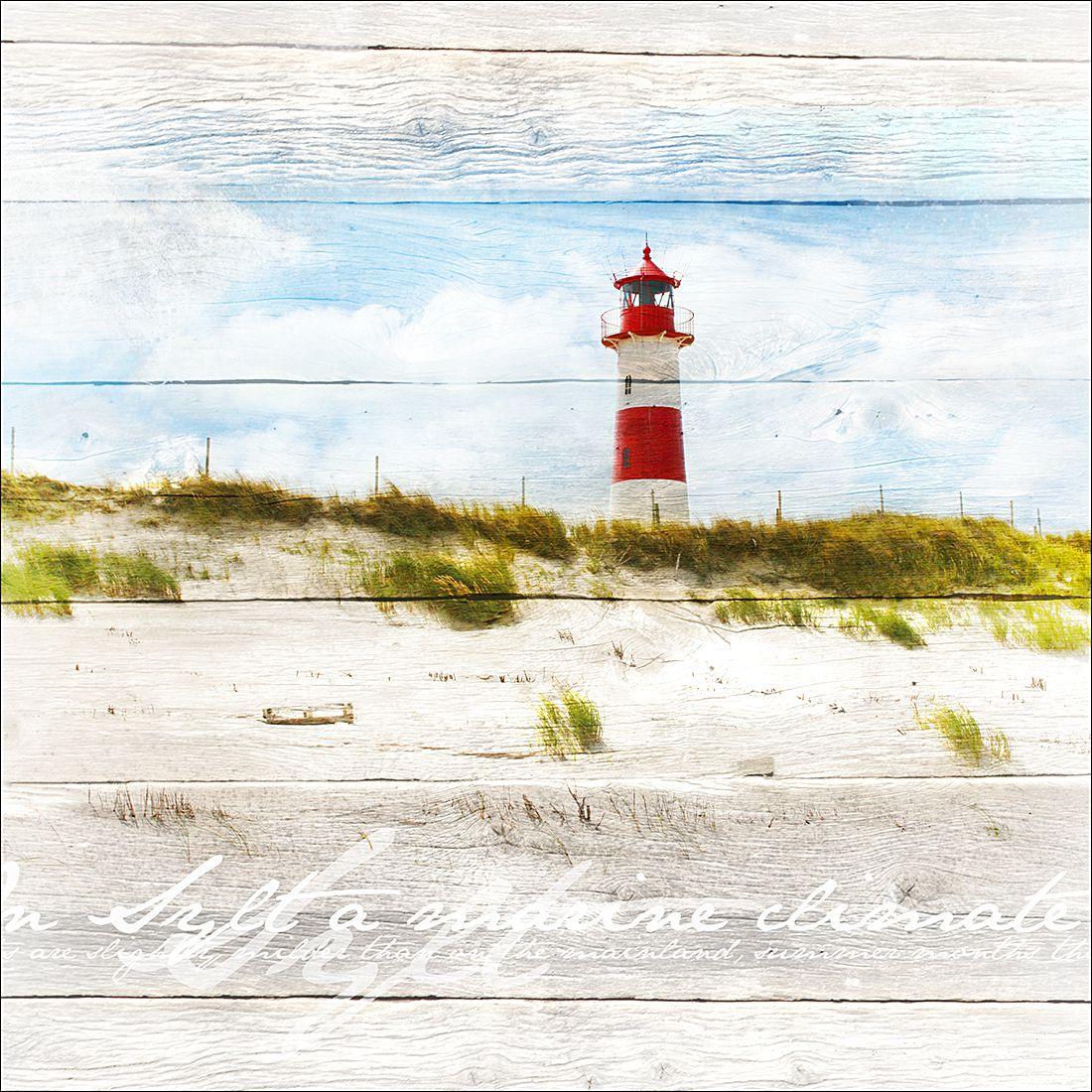 Kunstdruck Leuchtturm 70x70, Pro Art