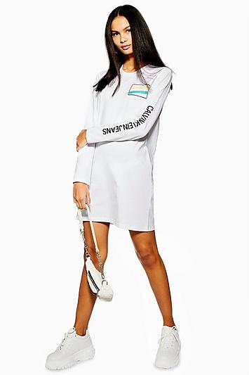 Langärmeliges Kleid von Calvin Klein - Weiß