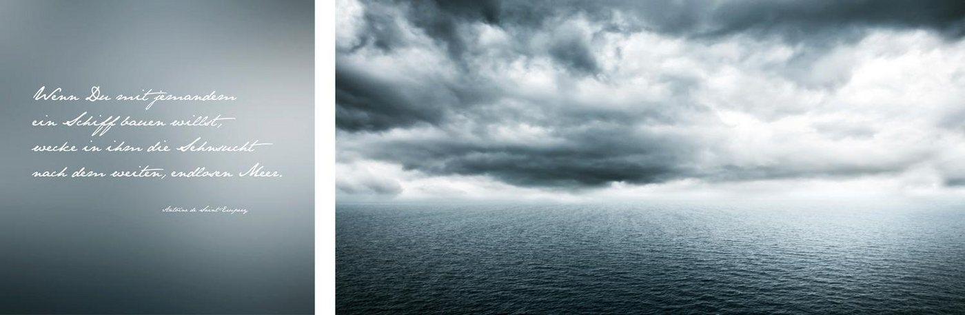 "Leinwandbild ""Endloses Meer"", mehrfarbig, 100x40cm,"