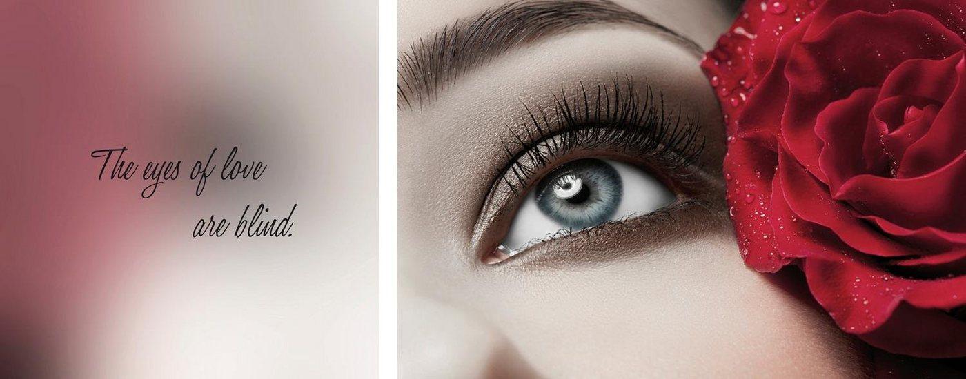 "Leinwandbild ""Eyes"", mehrfarbig, 100x40cm,"
