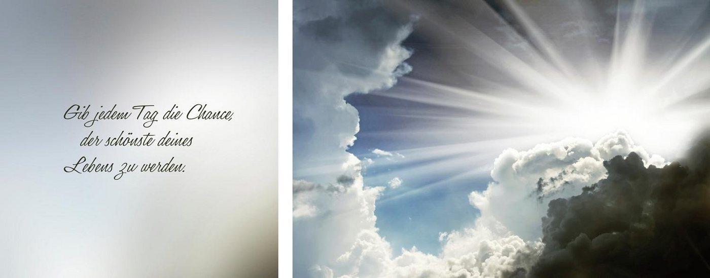 "Leinwandbild ""Schönste Tag des Lebens"", mehrfarbig, 100x40cm,"