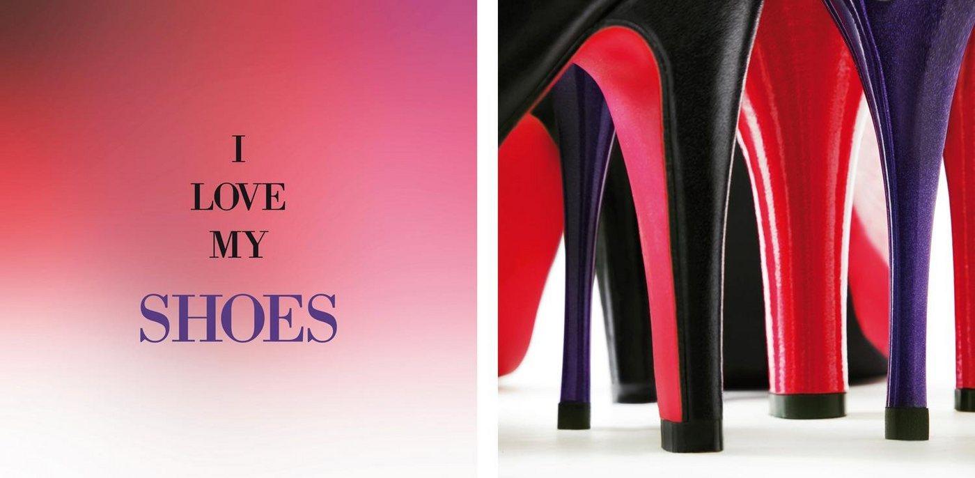 "Leinwandbild ""Shoes"", mehrfarbig, 80x40cm,"