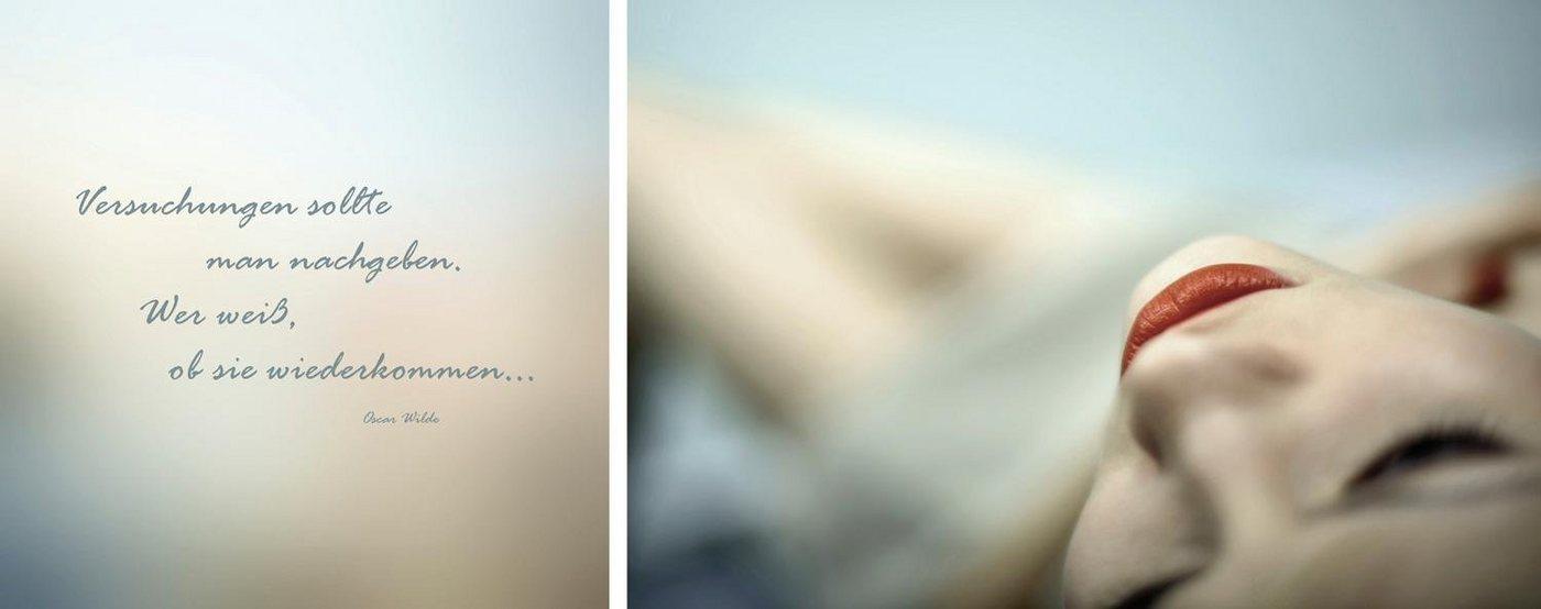 "Leinwandbild ""Versuchungen"", mehrfarbig, 100x40cm,"