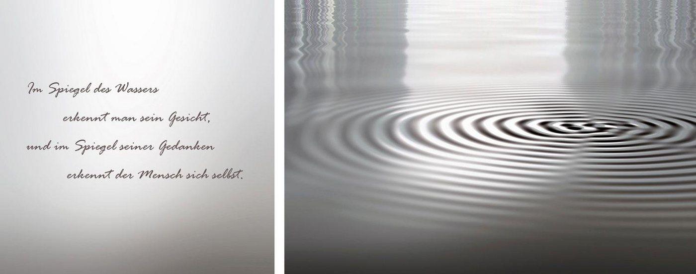 """Leinwandbild """"Wasser"""", grau, 100x40cm,"""
