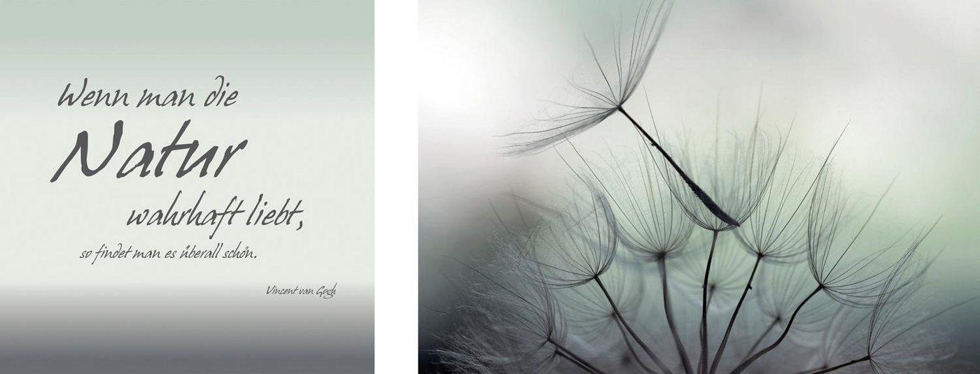 "Leinwandbild , grau, 100x40cm, ""Natur"","