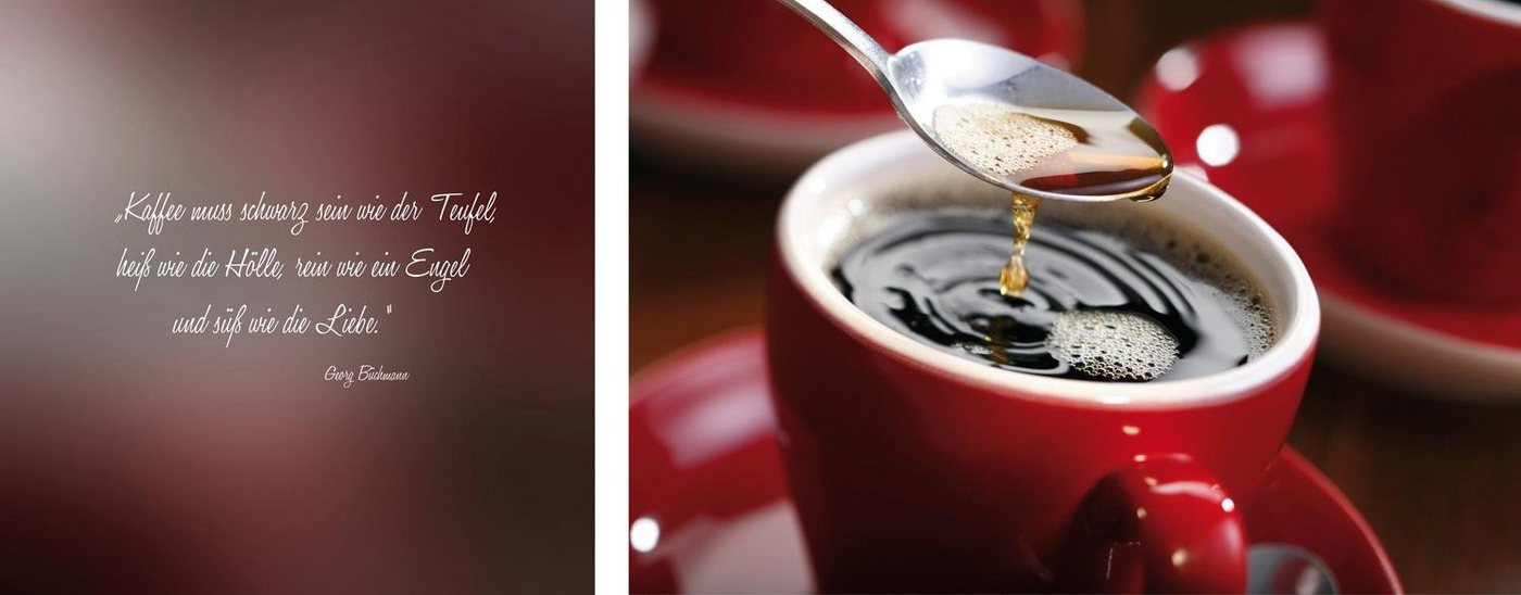 "Leinwandbild , mehrfarbig, 100x40cm, ""Kaffee"","