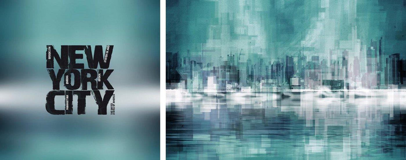 "Leinwandbild , mehrfarbig, 100x40cm, ""New York City"","