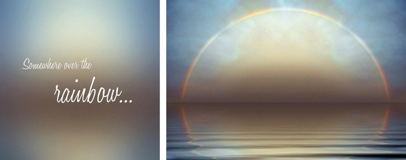 "Leinwandbild , mehrfarbig, 100x40cm, ""Rainbow"","