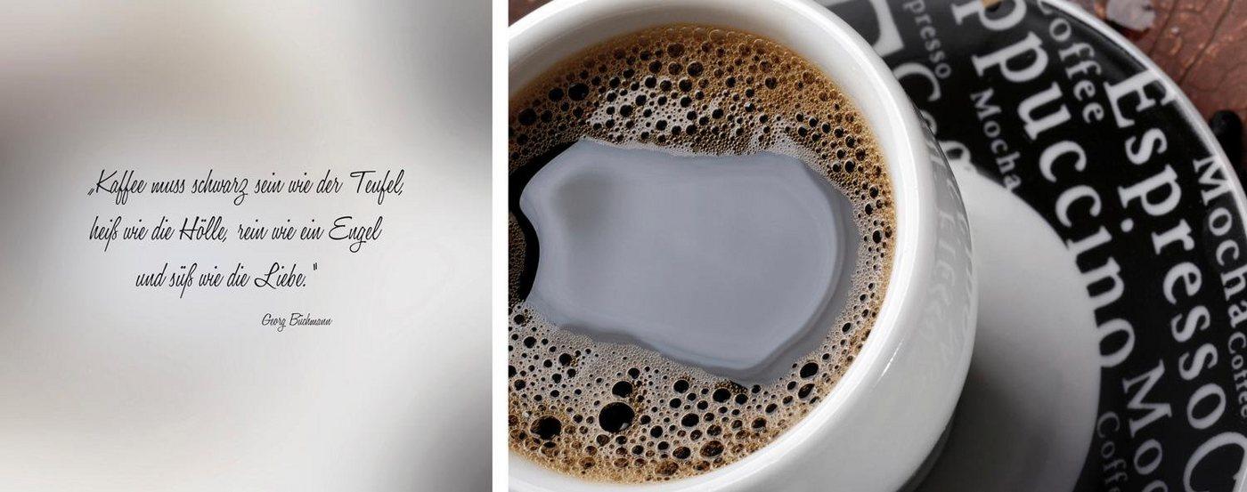 "Leinwandbild , mehrfarbig, 100x40cm, ""schwarzer Kaffee"","