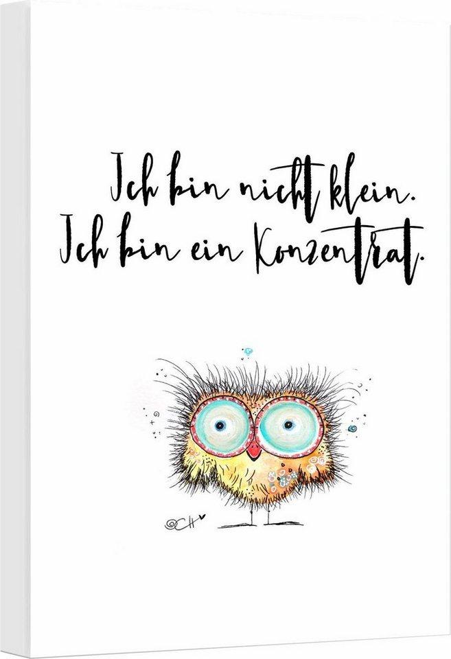 """Leinwandbild , mehrfarbig, 30x45cm, """"Hagenmeyer - Ich bin nicht klein..."""","""