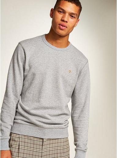 Light Grey MarlFARAH 'Tim' Sweatshirt, meliertes Hellgrau, Light Grey Marl