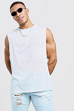 Loose-Fit Tank Top mit Ausbrennermuster