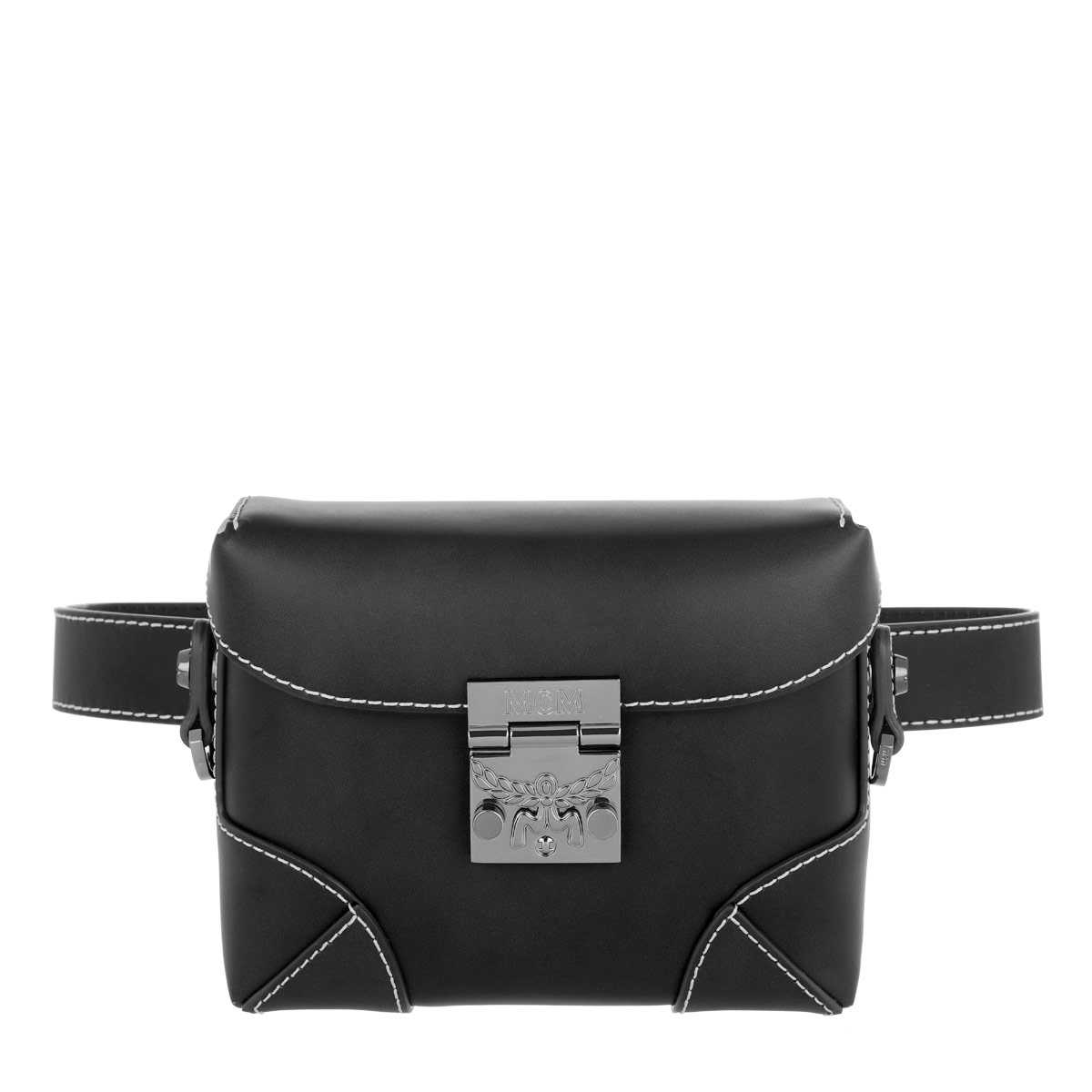 MCM Gürteltasche - Soft Berlin Vachetta Belt Bag Small Black - in schwarz - für Damen
