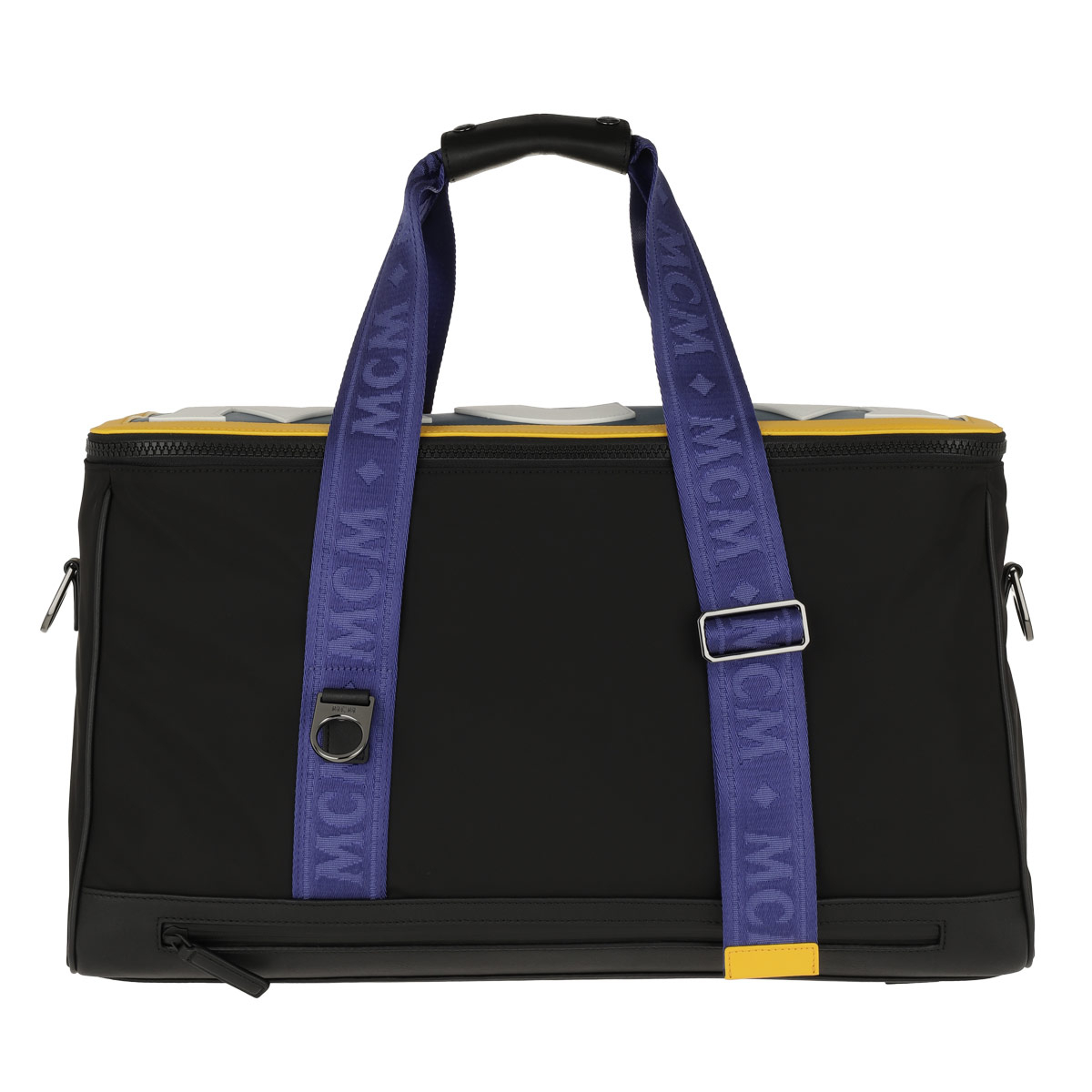 MCM Reisetasche - Aventin Nylon Leather Weekender Black - in schwarz - für Damen